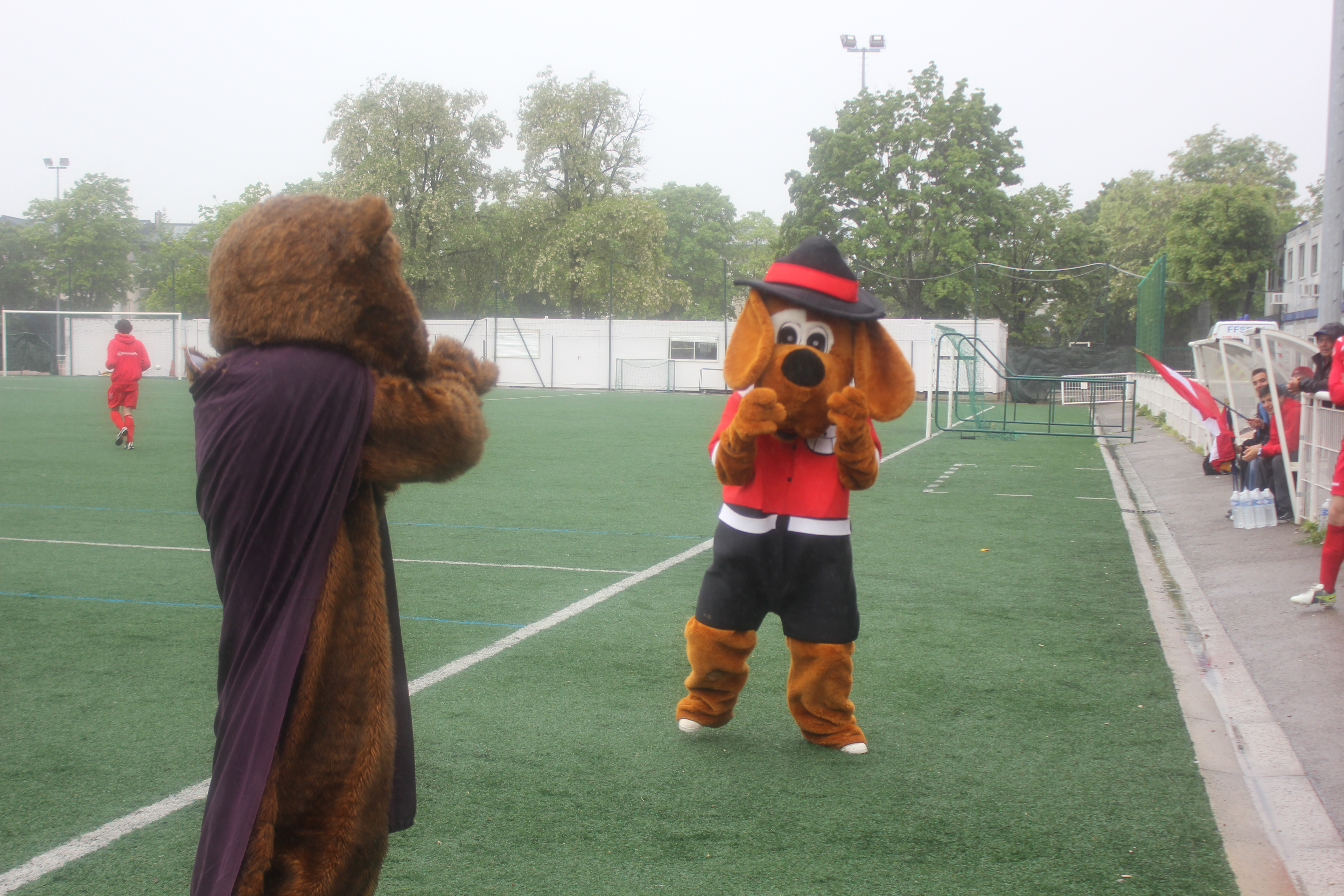 La lutte fait rage entre le Beaver de Reims et la mascotte nancéienne.