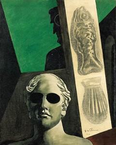 Portrait prémonitoire de Guillaume Apollinaire par Giorgio de Chirico, 1914.