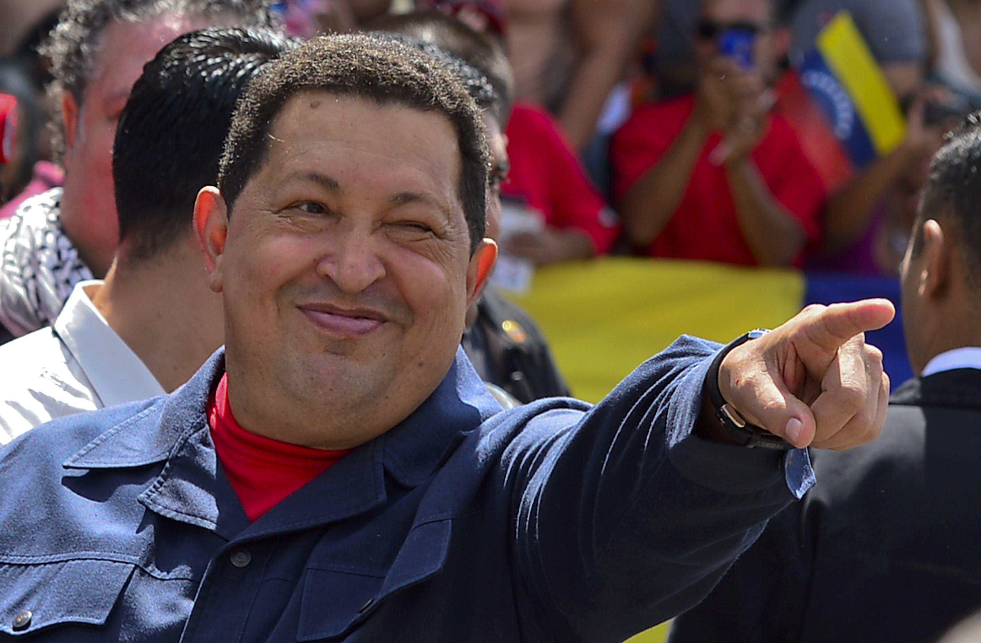"""Le défunt """"commandante"""" Hugo Chavez."""