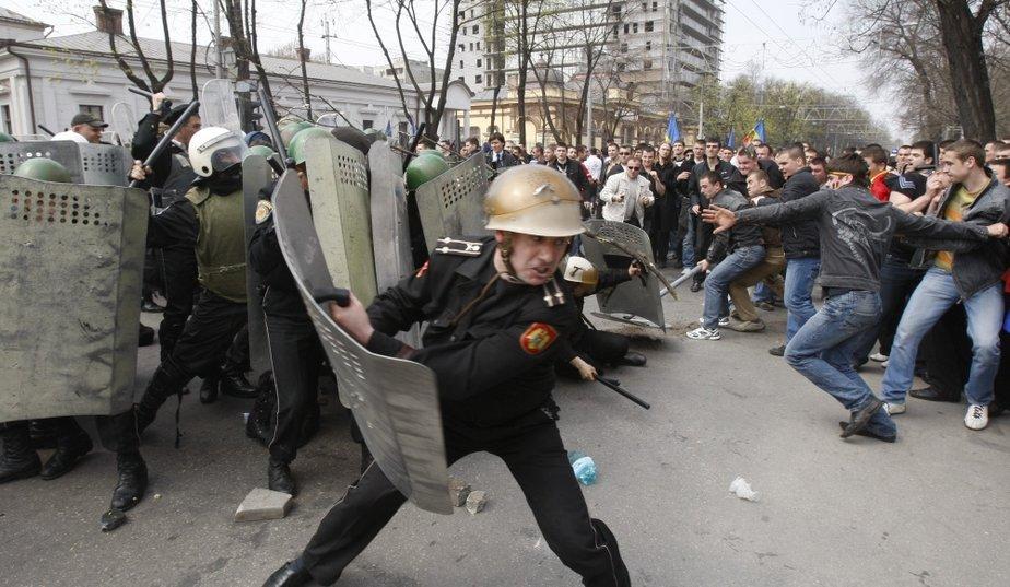 Le chaos en Moldavie.