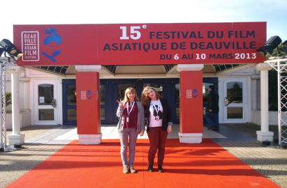 Les journalistes havraise au Festival du Film asiatique de Deauville.
