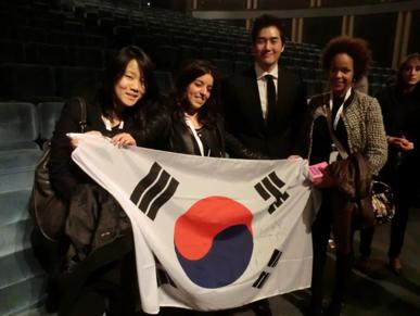 Trois de nos compatriotes havrais avec le réalisateur Yoo Ji Tae