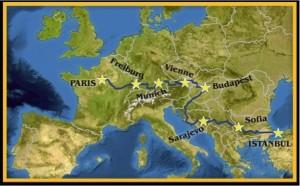 map paris istanbul