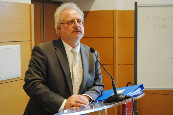 Le juge européen Dr. Egils Levits (Photo: Yann Schreiber)