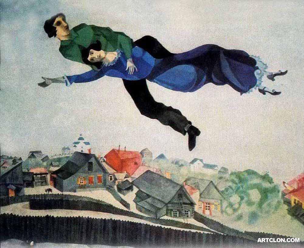Au dessus de la ville, un chef d'oeuvre signé Chagall.