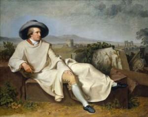 Tischbein, Goethe dans la campagne romaine, 1787, huile sur toile. Francfort, Städelsches Kunstinstitut und Städtisches Galerie  © U. Edelmann - Städel Museum