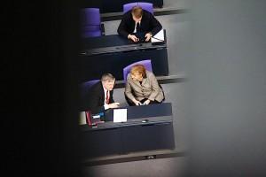 Angela Merkel au Bundestag / crédit photo : Yann Schreiber