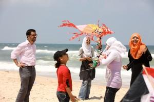 Damien Cristofari à Gaza. Source: F. De La Mure
