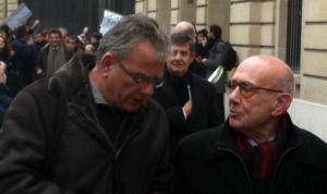 Duhamel et Casanova, membres du conseil d'administration de la FNSP hués par les étudiants l'an dernier.