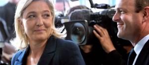 Marine Le Pen et Steeve Briois, probable futur maire d'Hénin-Beaumont.