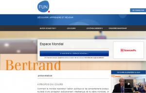 Capture d'écran du site France Université Numérique
