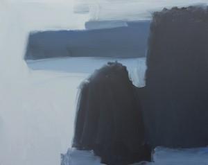 Les tombants, 2012, huile sur toile, par Mathieu Dorval, un des modèles pour le peintre du roman.