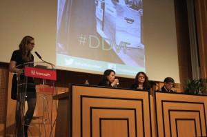 Réjane Sénac, Janine Mossuz-Lavau et Françoise Gaspard répondant aux questions d'Alice Liogier, vice-présidente de Politiqu'elles.