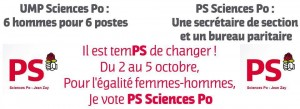Affiche de campagne de la section PS Sciences Po