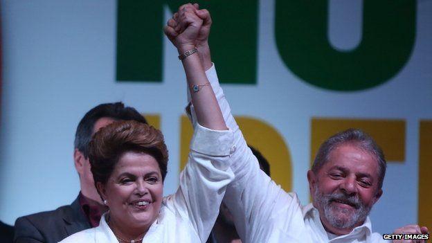 Lula et Dilma Rousseff le soir de la victoire