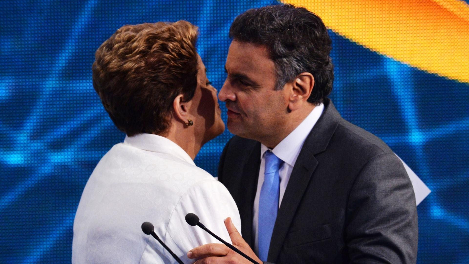 Aecio Neves et Dilma Rousseff