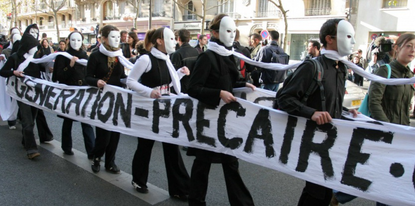 Manifestation de jeunes internes des hôpitaux et de stagiaires, à Paris en novembre 2005. Crédits photos : Nouvel Observateur