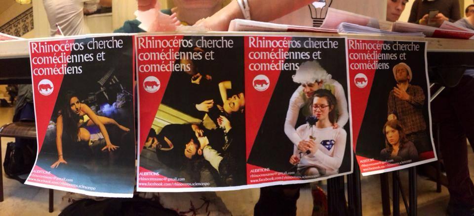 Campagne de recrutement de Rhinocéros, la compagnie de SciencesPo.