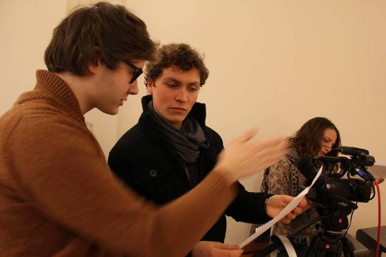 Pierre-Louis Lagnau et Paul Chevrier lors d'un tournage de 27