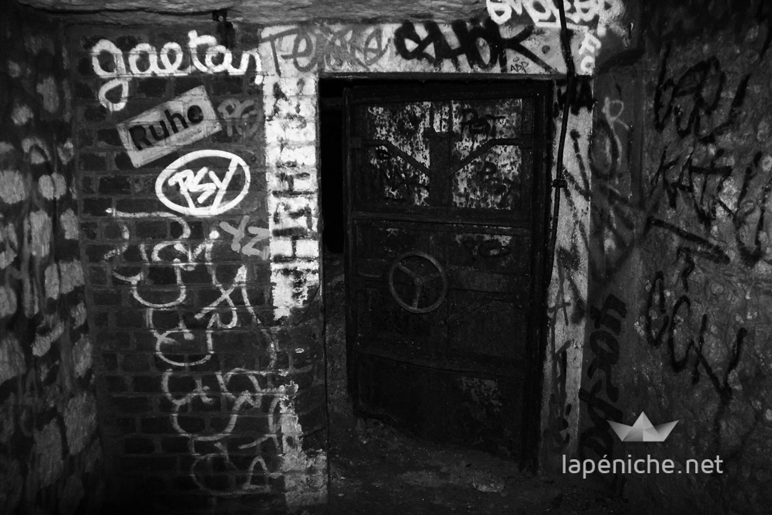 Entrée du bunker allemand creusé sous le Luxembourg pendant l'Occupation