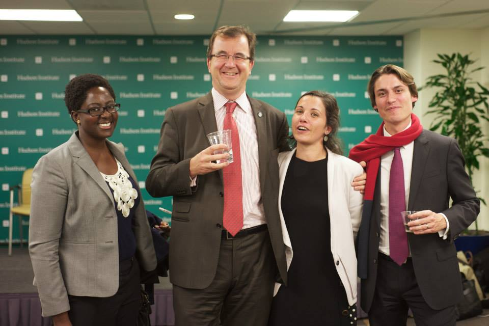 Naa Ammah-Tagoe, Bertrand Badré, Anne Scattolin et Olivier Lavinal le 3 novembre 2014
