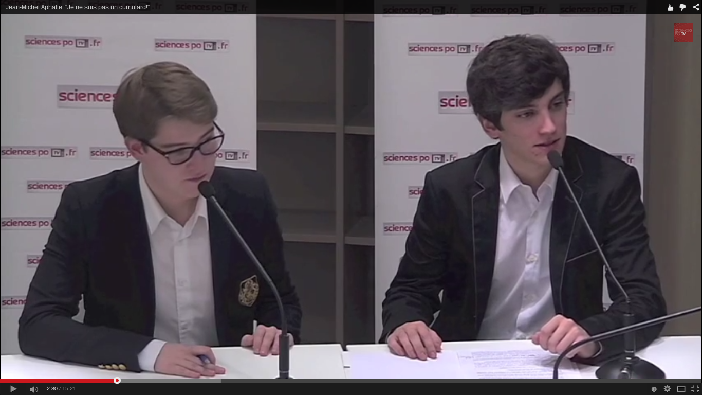"""Théo Maneval dans l'émission de SciencesPo TV """"Témoins de campagne"""""""