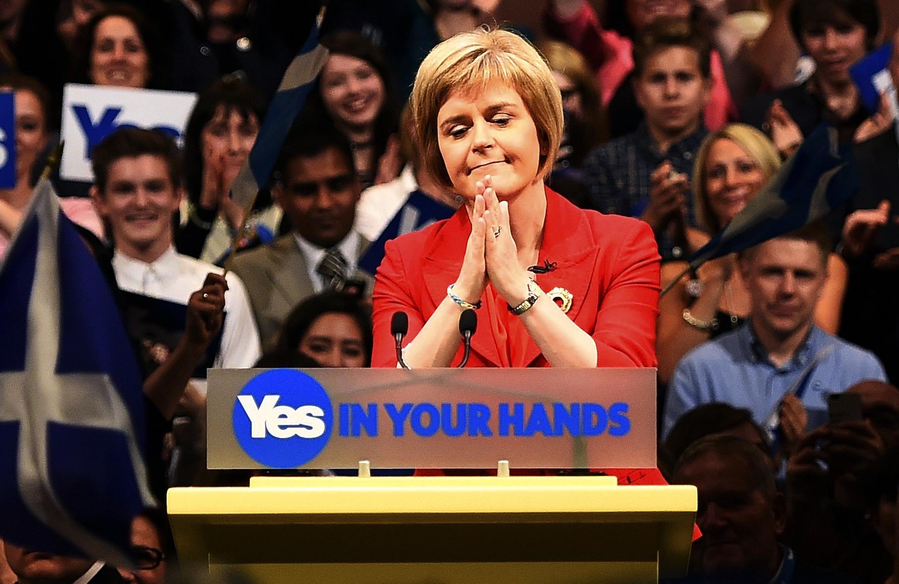 Nicola Sturgeon, chef du Parti national écossais (SNP) et Première ministre d'Écosse depuis la démission d'Alex Salmond.