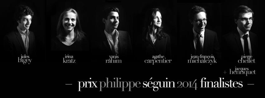 Les sept finalistes de l'édition 2014 du Prix Philippe Séguin.