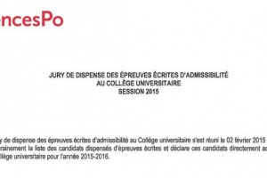 admission sur dossier sciences po