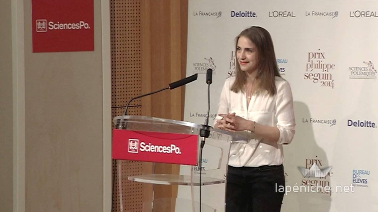 Irina Kratz, lauréate du PPS 2014.