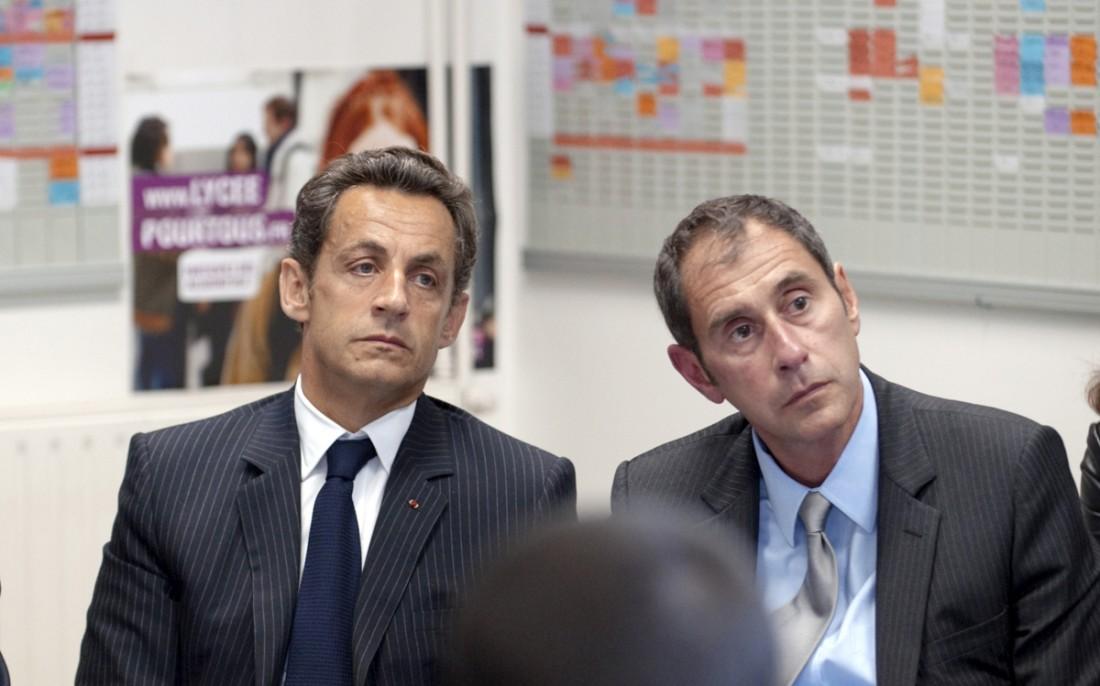 Nicolas Sarkozy et Richard Descoings