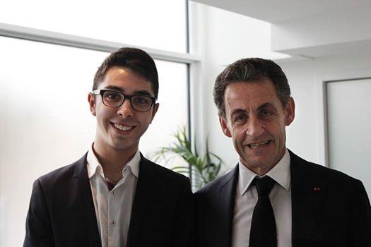 Omar Ben Abderahmen avec Nicolas Sarkozy