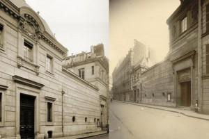 Façades d'époque (avant 1948) des 25, 27 et 29 rue Saint Guillaume