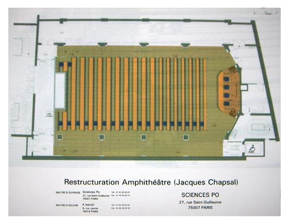 Plan de restructuration de l'amphithéâtre Jacques Chapsal