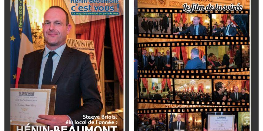 Steeve Briois en une du magazine municipal.