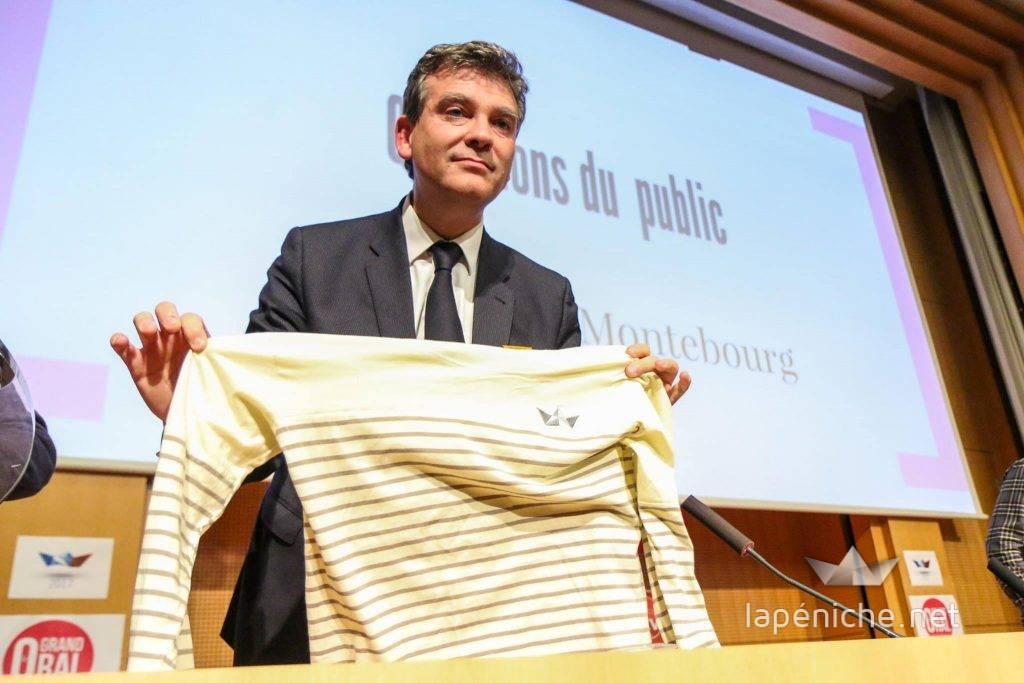 Arnaud Montebourg, le troisième homme de cette primaire, lors du Grand Oral, le 18 octobre dernier à Sciences Po. Photographie Yann Schreiber