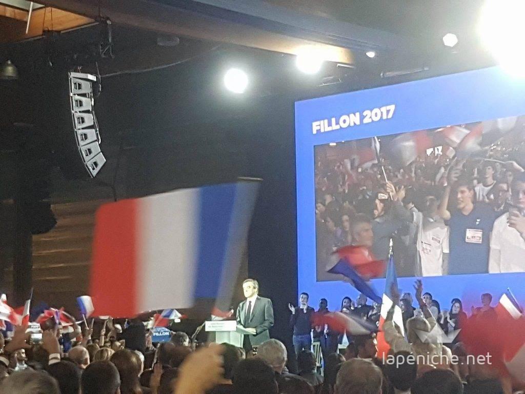 """""""Si je n'avais qu'un slogan ce serait : La France libre"""", François Fillon. Photo: Thomas Hinzelin"""